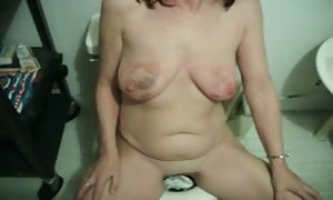 sex-slave proving off bruised juggs and ass