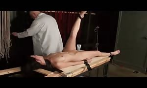 crazy deflowered slut being fucked by her slave trainer in a hot domination and submission vid