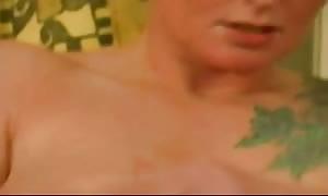tatted German escort Toys Her shaved vag