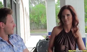 turned on red head milf