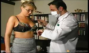 warped medical medical doctors are drilling skinny blond and playing with sex toys