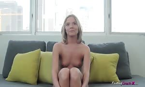 sensual tryout blond posing undressed in the flick clip by try-out sofa X