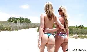 Phoenix and Alexis on the beach