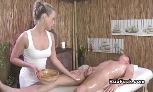 guy passionately bangs masseuse