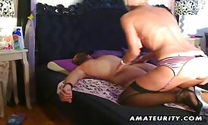 A big-titted blonde rookie slut slurps