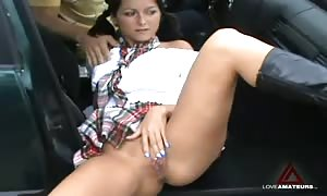 screwing a promiscuous schoolgirl on the bdsm