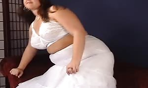 sleazy HLS Photogravure fatty amateur takes off her dress