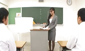 teacher Ren Azumi provides anal Lesson-by PACKMANS