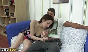 Makayla in horny ebony stud ravishes one turned on bare naked woman