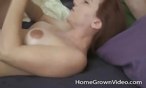 girlfriend on her back inserted into in the twat