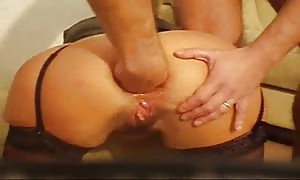female anus sex fisted and bottled - home manufactured hardcore