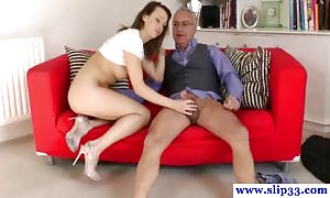 old brit dude being dicksucked by younger