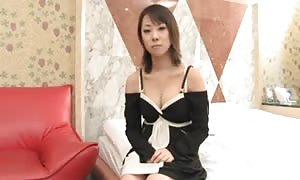 asian beauty licks cock and can