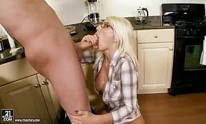 hot blonde Puma Swede takes on wide hard-on