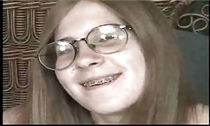 Dorky teenager