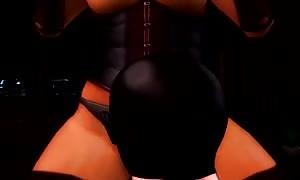 Monica strap on dildo dildo - 3D female dom (animated)