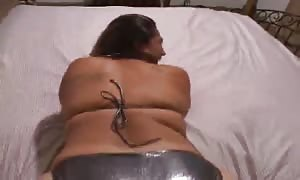latin woman is riding his aged