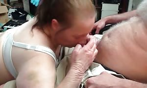 old woman with unbelievable ruthless rough blowjob skills