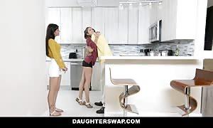 DaughterSwap - teenager Besties fuck Eachothers dads