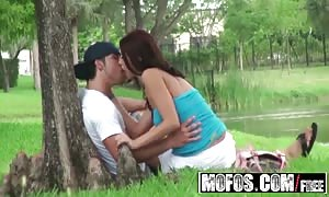 MOFOS - Alexis Grace nails her bf out in a public park