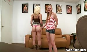 lesbo tryout with Avril hall and Marissa