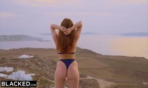 BLACKED huge black cock yearning Red Head will get Dominated On Vacation