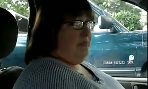 humungous pretty girl whack job #9 In the truck, Married Sneaky aged wife