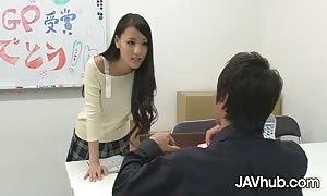 JAVHUB Schoolgirl Ren Azumi slammed by her two instructors