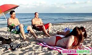 Gina Valentina And Kobi Brian in Beach Bait And trade