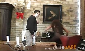 Club Gape girl is being cruelly drilled in her face