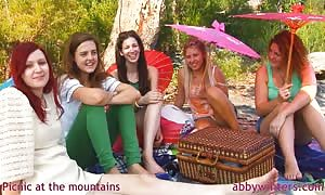 awesome sweeties and Abby Winters are having a good lunch