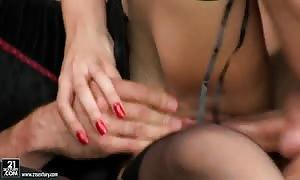 Whorish red-head Mai Bailey likes in 3 way sex