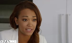 VIXEN wild Assistant entices manager on Vacation