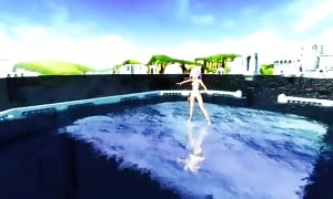 MMD bare naked Water Dance