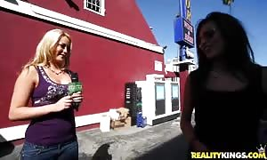 Two ladies are explaining