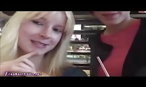 Real house manufactured lezzy teen fisting In Public McDonalds