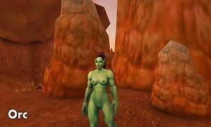 Warlords of Draenor bare naked Patch Horde & neutral