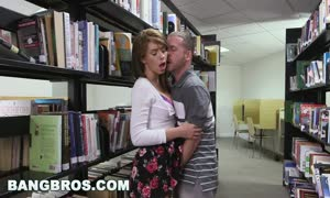 BANGBROS - penetrating a teenager dark-haired named Joseline Kelly in the library