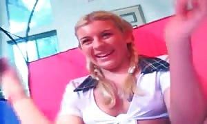 beautiful schoolgirl eats enormous black shlong