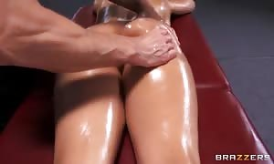 Diamond Kitty favors excellent body rub made by Johnny Sins
