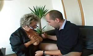 French mature Angela group fucked