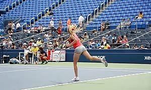 Radwanska Kerber Practice a million