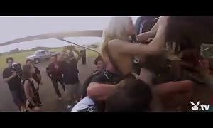 naked turned on girls Skydiving!