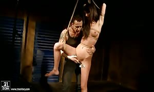Betty Stylle is restrained up, exploited and pounded