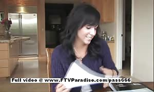 Mandee humorous youngster dark-haired flashing